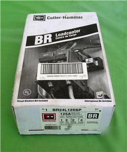 cutler - hammer 125 amp BR24L125SP loadcenter