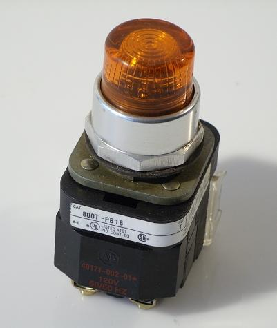 Allen bradley 800T-PB16 ser.t orange pushbutton