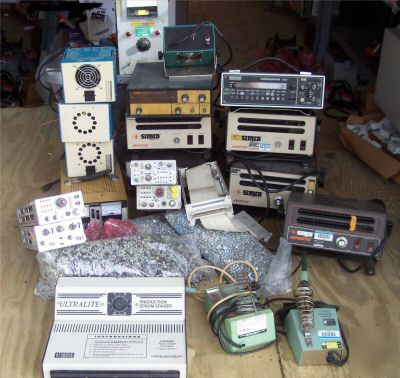 Big lot electronic parts, * test equipment * machines