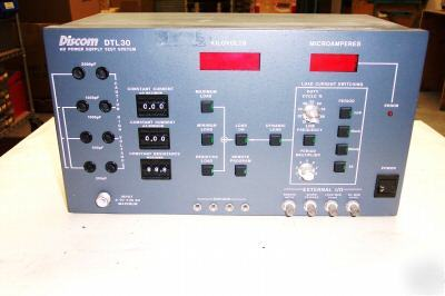 Discom DTL30 high voltage power supply test system