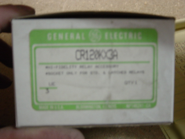 Ge CR120KX3A standard relay socket