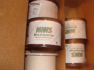 New 4.5 ibs spool mws awg 34 hapt copper magnet wire -