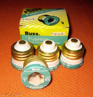 New 4 buss fuestron t-6 1/4 fuse screw in plug T6