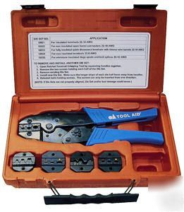 new tool aid ratcheting terminal crimper kit w 5 dies. Black Bedroom Furniture Sets. Home Design Ideas