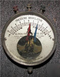 Teeple iron fireman co type ch pressure regulator gauge