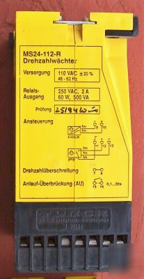 Turck rotational speed monitor MS24-112-r