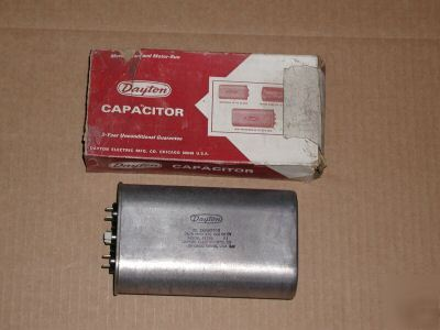 2 dayton motor run oil filled capacitors #4X766