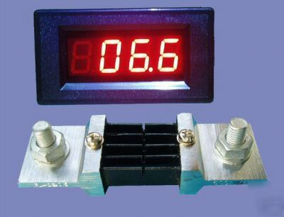 3-1/2 DC500A led digital ampere meter with shunt