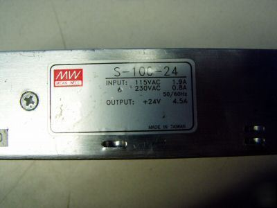 Mean well power supply m/n: s-100-24 - used