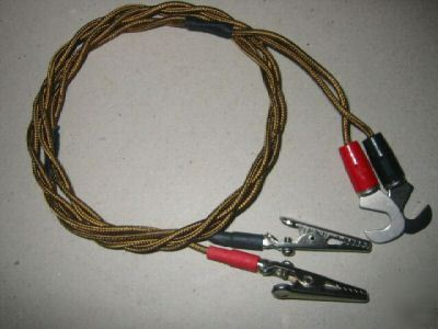 New electronics cable crocodile clip power supply leads