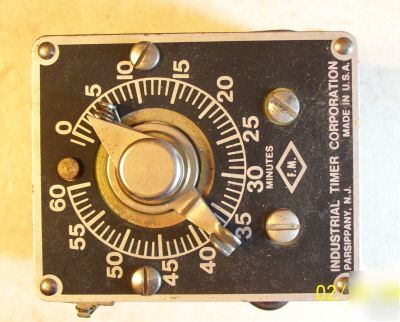 New * industrial timer co, csf 60MIN, 120 v motor