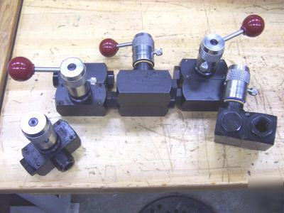 New parker hydraulic flow control valves ~ ~