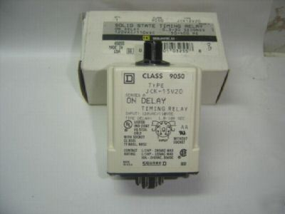 Square d 9050-JCK15V20 S0LID state timing relay