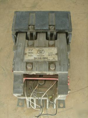 Westinghouse size 5 contactor cts gca 530