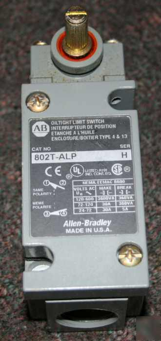 Allen bradley oiltight limit switch 802T-alp sensor