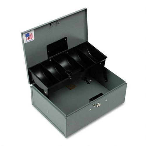 Cantilever steel cash box with coin tray - buddy 521