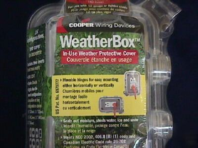 Cooper weather box weather protective outlet cover