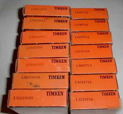 Lot timken bearings LM501310 LM603011 LM603049 LM29710