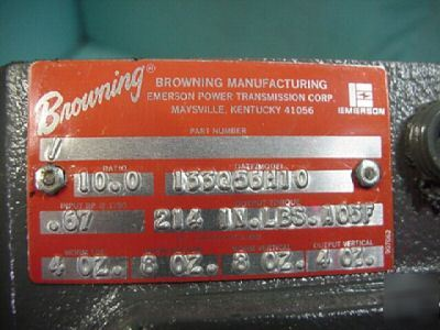 New browning speed reducer gearbox 10:1 ratio