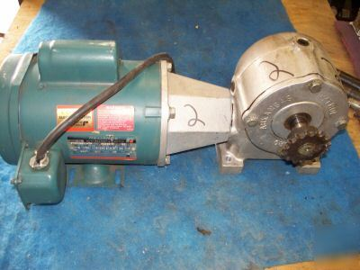 Reliance .5HP electric motor w/ hytrol speed reducer