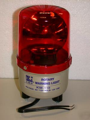Rotary warning light motorized color amber 110VAC