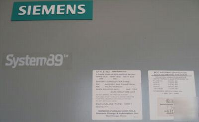 Siemens-furnas motor control center 600V 3PH mlo 800A