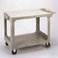 heavy-duty flat shelf utility cart rcp 4525 bei