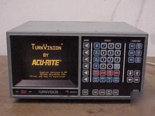Acu-rite turnvision readout system for lathes