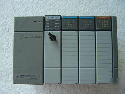 Allen bradley slc 500 4 slot 5/03 plc system 1747-L532