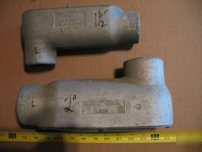 Lot of 2 crouse hinds lbs rigid 1-1/2