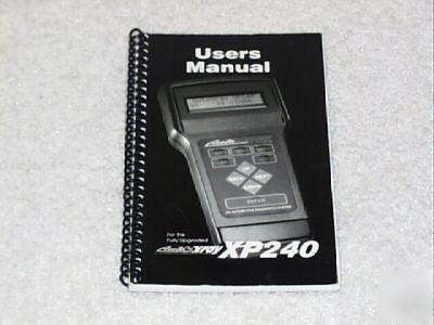Manual for autoxray XP240 diagnostic scanner