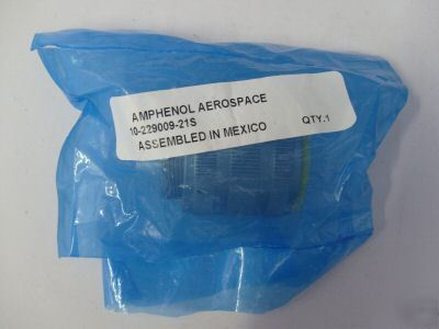 New amphenol aerospace connector 10-229009-21S... in pkg