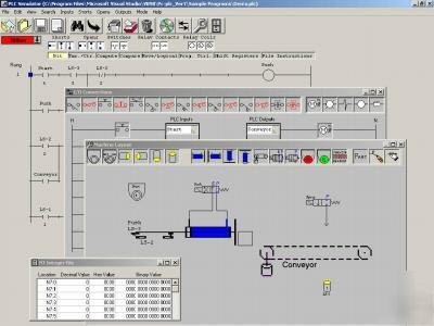 Plc simulator ladder logic training electrical control