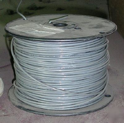 Roll of 14GA thhn gray stranded copper wire - 500 ft