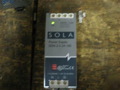 Sola electric sdn 2.5-24-100 power supply