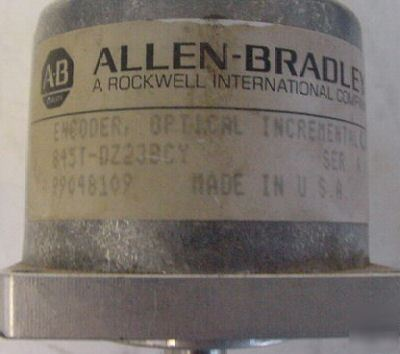Allen bradley optical incremental encoder 845T-DZ23BCY