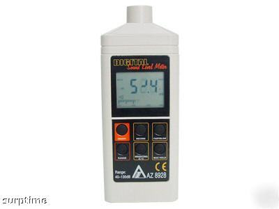 Digital sound level checking meter with analog graph