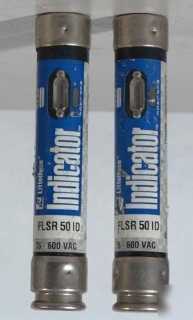 Littelfuse indicator flsr 50 id fuse lot of 2