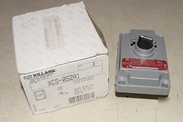 New killark explosion proof selector switch xcs-0S2A1