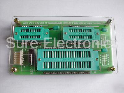 New universal programmer board zif socket - 3 sockets ( )