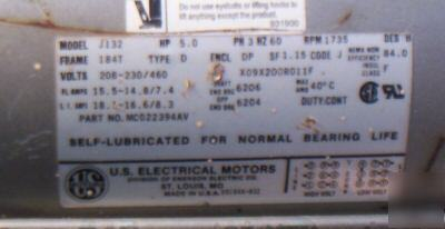 U.s. electrical motor 5 hp 3 phase